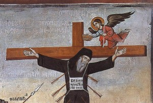 crucified monk